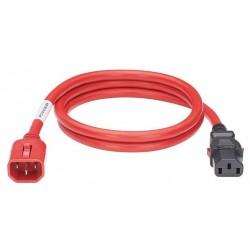 LPCA04, Захранващ кабел C13 - C14 locking 1.8m червен