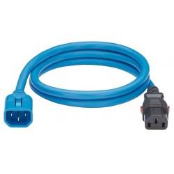 LPCA09, Захранващ кабел C13 - C14 locking 1.8m син, P