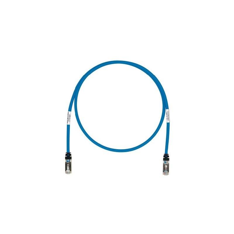STP6X5MBU, Пач кабел STP Cat.6A 5m син, Panduit