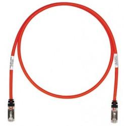 STP6X5MRD, Пач кабел STP Cat.6A 5m червен, Panduit