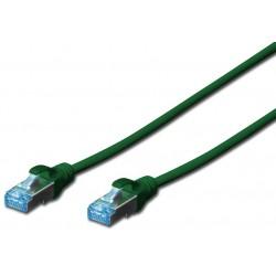 DK-1521-0025/G, Пач кабел Cat.5e 0.25m FTP зелен, Assmann