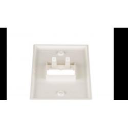 CFP2IW, Mini Com Classic series single gang vertical faceplate accepts two Mini-Com® Module, Off White