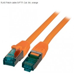 MK6001.1O, Пач кабел Cat.6A 1m SFTP оранжев, EFB