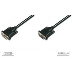 AK-320202-100-S, DVI extension cable (24+1) M/F 10m Assmann