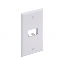 CFP2IW, Mini Com Classic series single gang vertical faceplate accepts two Mini-Com® Module, Off White
