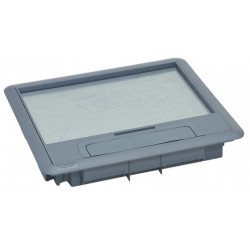 088001, Капак за подова кутия 9М Legrand - сив пласт.