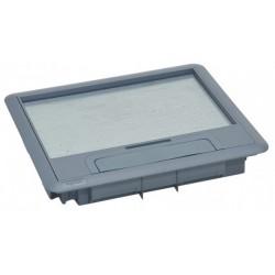 088002, Капак за подова кутия 12М Legrand - сив пласт.