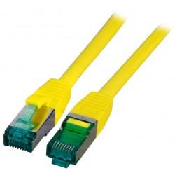 MK6001.1.5Y, Пач кабел Cat.6A 1.5m SFTP Жълт, EFB