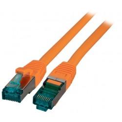 MK6001.1.5O, Пач кабел Cat.6A 1.5m SFTP Оранж EFB