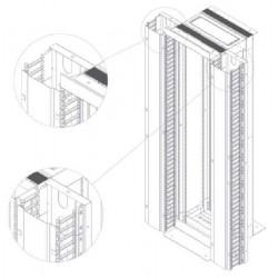 LN-KDG-OFR-42U235-BL, Аранжиращ панел 42U Open frame, finger type