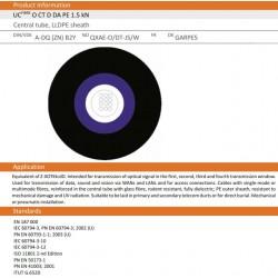 10230106, Опт. кабел 12F SM 9/125 A-DQ9ZN)B2Y, BKT