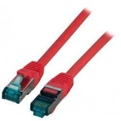 MK6001.10R, Пач кабел Cat.6A 10m SFTP Червен, EFB