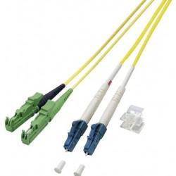 MY-9E2000APCLCPC-02L, Оптична корда дуплекс 9/125 E2000/APC-LC/PC 2м