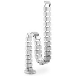 DA-90506, Гъвкав канал за кабели - тип гръбнак, сив 1,3м