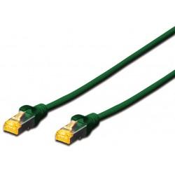 DK-1644-A-005/G, Пач кабел Cat.6A 0.5m SFTP зелен, Assmann