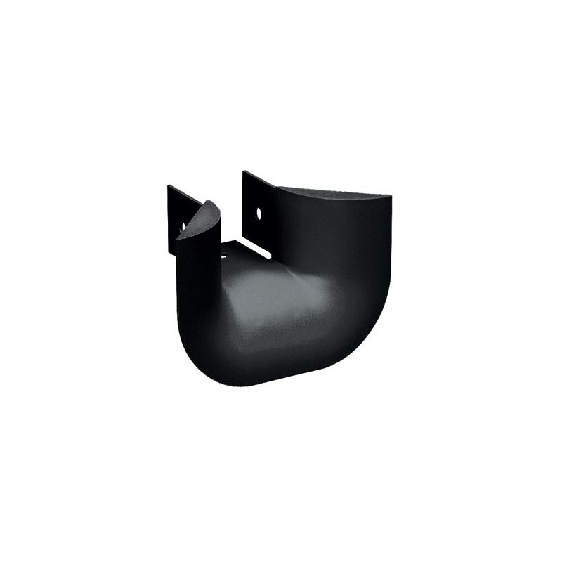 FTR2X2BL, 3-sided vertical tee trumpet spillout, black