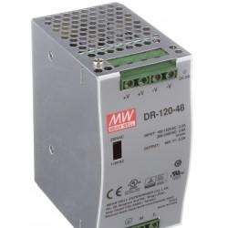 DR-120-48, Захранване импулсно, 48V, 120W, 2.5А, индустриално