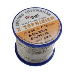 LC60-0.50/0.25, Тинол за запояване. Свързващо вещество, калай-олово 0,5mm., 0.25kg.SN60Pb40 0.5mm, 0.25kg