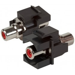 EB522, Cinch червен keystone type, черен