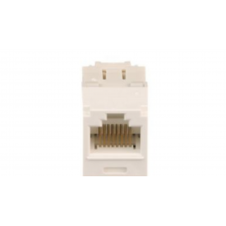 CJ688TGAW, Category 6, RJ45, 8-position, 8-wire universal module. Arctic White.