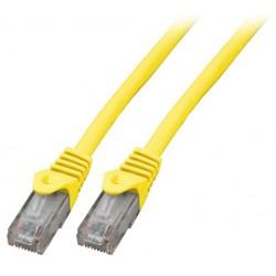 K8104DG.0,5, Пач кабел UTP Cat.6 0.5m жълт LSZH