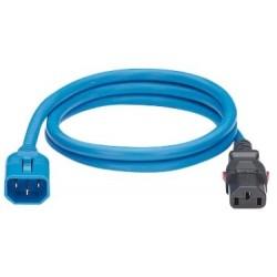 LPCA08, Захранващ кабел C13 - C14 locking 1.2m син