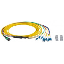 MTPF08LCOS2-5, MTP®-F/LC 8-fiber patchcable OS2,LSZH yellow,5m