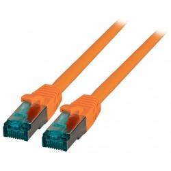 MK6001.0,5O, Пач кабел Cat.6A 0.5m SFTP оранжев, EFB