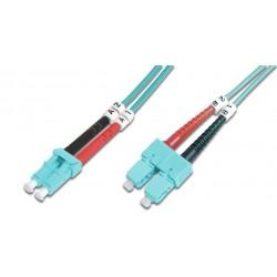 PCH-SCSCM3DLZ20AQ-01, Оптична корда дуплекс 50/125 SC-SC (OM3), 1m Alf