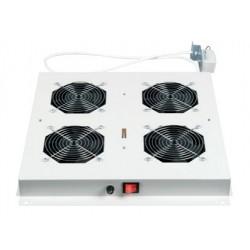 LN-FAN-THM-4FLNIP-LG, Вент.модул 4-ка с термостат и филтър за FS шкаф