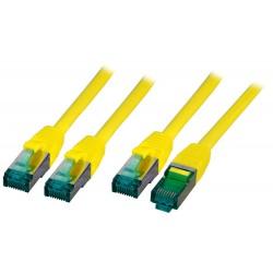 MK6001.3Y, Пач кабел Cat.6A 3m SFTP Жълт, EFB