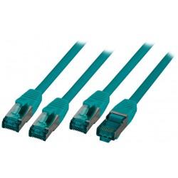 MK6001.3GR, Пач кабел Cat.6A 3m SFTP Зелен, EFB
