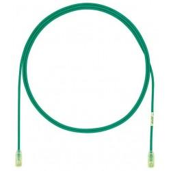 UTP28X0.5MGR, Пач кабел UTP cat.6A 28AWG 0.5m зелен, Panduit