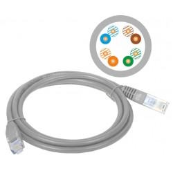 KKU5SZA10, Пач кабел Cat.5e 10m UTP сив