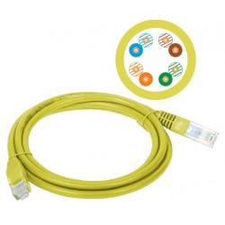 KKU5ZOL1, Пач кабел Cat.5e 1m UTP жълт, Alan