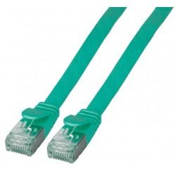 K5545GN.1, Пач кабел Cat.6A 1m U/FTP зелен плосък, EFB