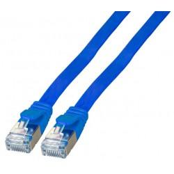 K5545BL.2, Пач кабел Cat.6A 2m U/FTP син плосък, EFB