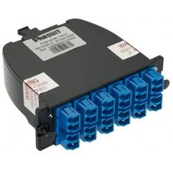 FC29N-24-10AS, QuickNet™ SFQ LC Cassette OS2 12xLC duplex,2xMPO