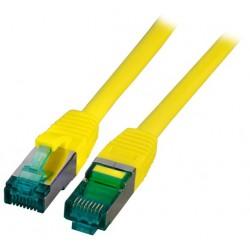 MK6001.1Y, Пач кабел Cat.6A 1m SFTP Жълт, EFB