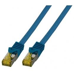 MK7001.0.15BL, Пач кабел Cat.6A 0.15m SFTP син, EFB