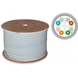 KIF6PVC500, Кабел FTP Cat.6 PVC 23AWG 500m сив, A-LAN