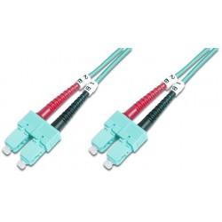 DK-2522-05/3, Оптична корда дуплекс 50/125 SC-SC (OM3) 5m, Assmann