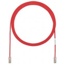 UTP28SP1.5MRD, Пач кабел UTP Cat.6 28AWG 1.5m червен, Panduit