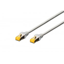 DK-1644-A-100, Пач кабел Cat.6A 10m SFTP сив, Assmann