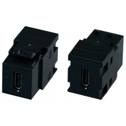 EB552, USB C keystone type, черен EFB