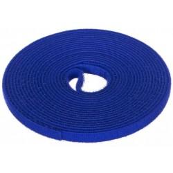 PK025NIE, Велкро лента - синя 9мм, 5м