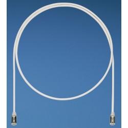 STP28X0.5MBU, Пач кабел 28AWG STP Cat.6A 0.5м син, Panduit
