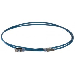STP28X1.5MBU, Пач кабел 28AWG STP Cat.6A 1.5м син, Panduit