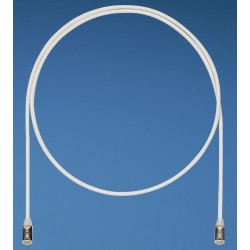 STP28X2.5MBU, Пач кабел 28AWG STP Cat.6A 2.5м син, Panduit