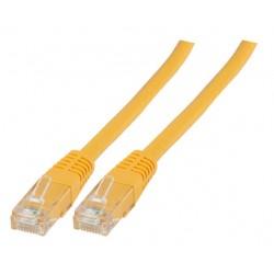 Пач кабел UTP Cat.6 0.5m жълт